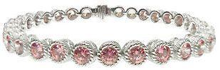 "Judith Ripka Sterling 118-Facet Pink DMQ 6-3/4""Bracelet"