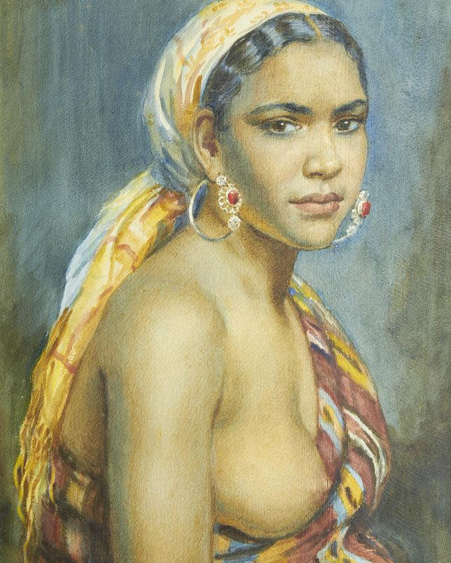 George Owen Wynne Apperley - Portrait of Aicha