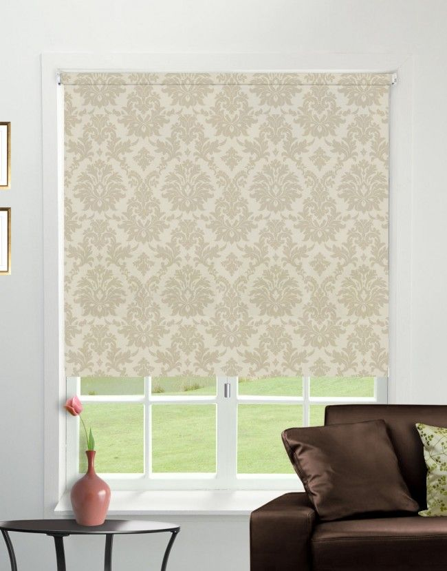 Baroque Sand Roller Blind - Direct Order Blinds UK
