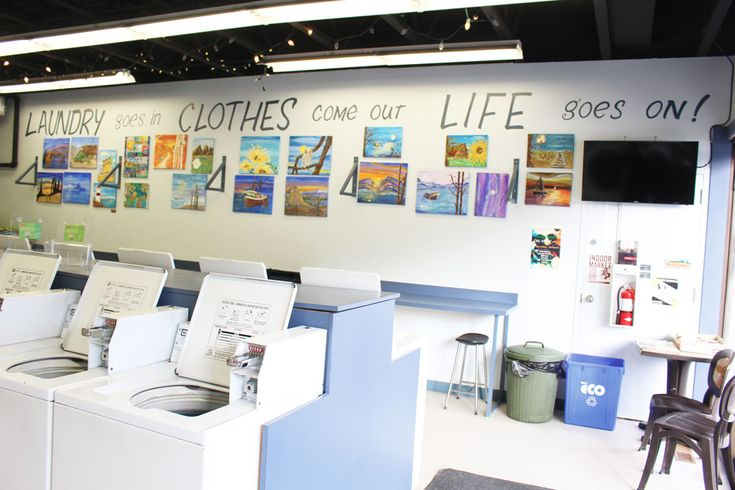 Why shouldn't there be in an art gallery in a local laundromat?