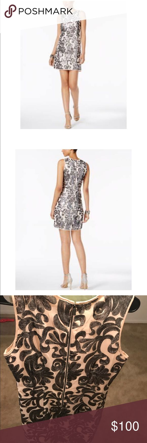 Vince Camuto Sequined Embroidered Dress $148.00 · Macy's +$10.36 tax.  Product details Brand:Vince Camuto Size type:Regular Department:Women's Flourishes of fancy sequins make Vince Camuto's mini dress a stunning style for parties and special events. Vince Camuto Dresses Mini
