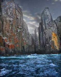 Tasmania: the rugged south east coast line. A thrilling boat ride is available for those wanting to see this inaccessible area.