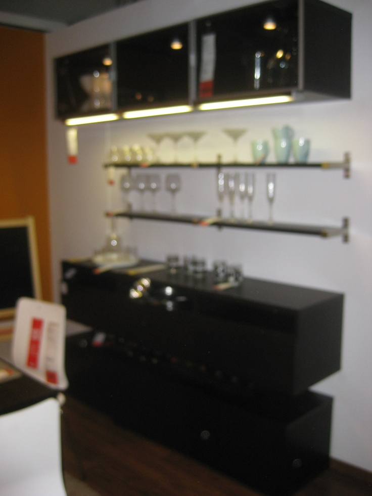 Besta Blk Brn Wall Cabinet As Bar