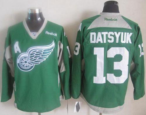 ... 40 Henrik Zetterberg Green St. Patricks Day Reebok Jersey NHL New  Practice Jerseys Detroit Red Wings datsyuk green Jerseys ... e90200865
