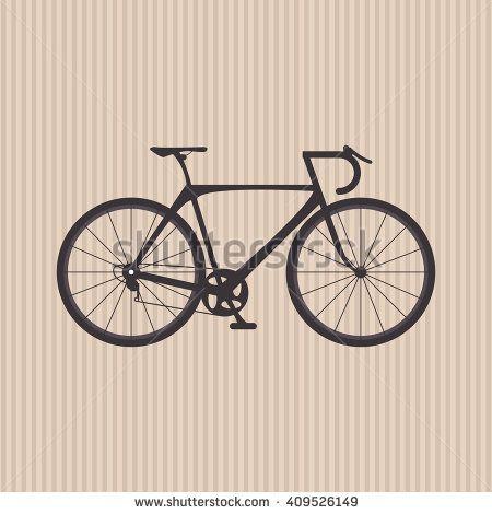 Flat illustration of bike lifesyle design