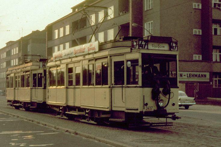 Berlin-Wagen 3417 (TM 36) in Britz, Gradestr.(1966)