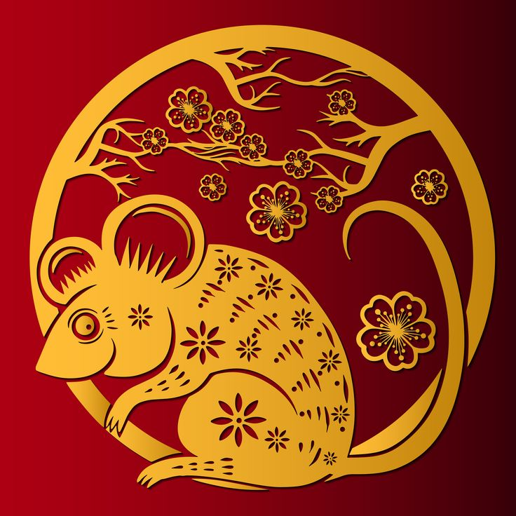 Happy Chinese New Year 2020 year of the rat, Zodiac sign