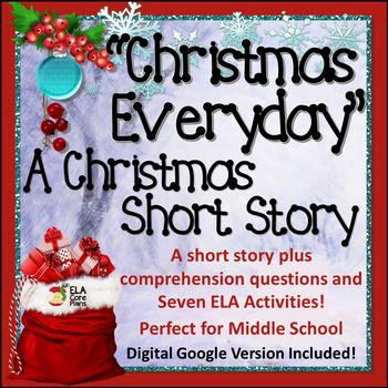 """This unit contains a Christmas short story titled """"Christmas Everyday"""". It's about a girl who makes a wish to the Christmas fairy for Christmas to be every day and the trouble it brings when her wish is granted. This story, comprehension questions, and all of the activities require no prep!"""