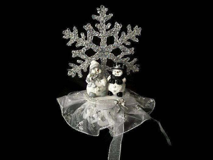 A personal favorite from my Etsy shop https://www.etsy.com/ca/listing/207428598/silver-christmas-ornament-with-snowmen