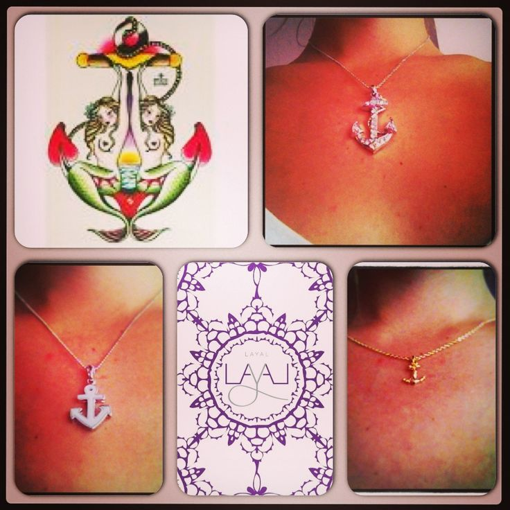 Layal glyfada anchor necklaces