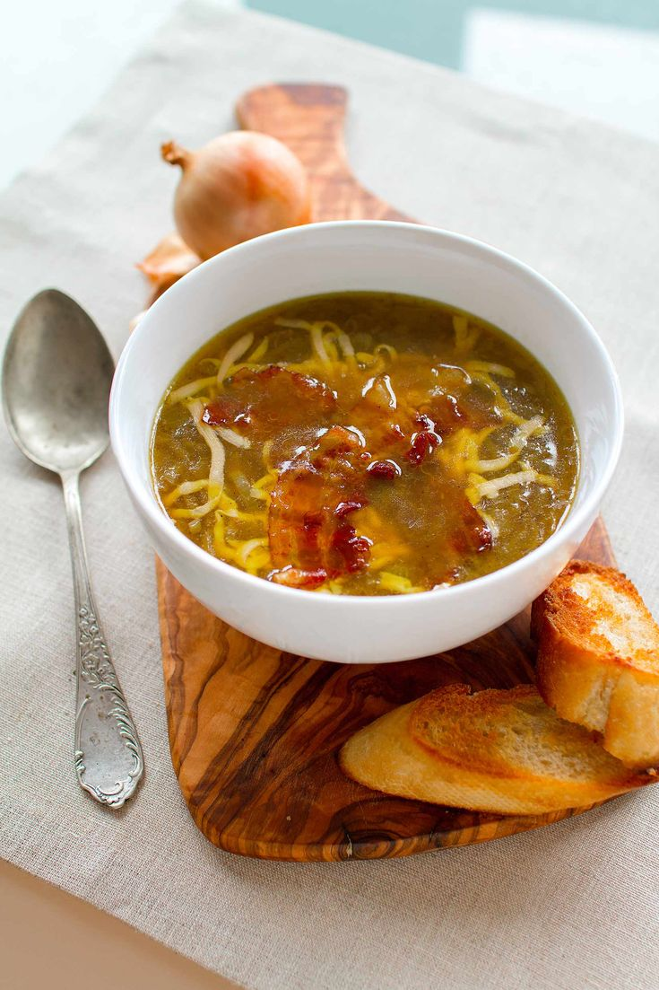 Delicious onion soup. Quick, cheap and hearty meal :)