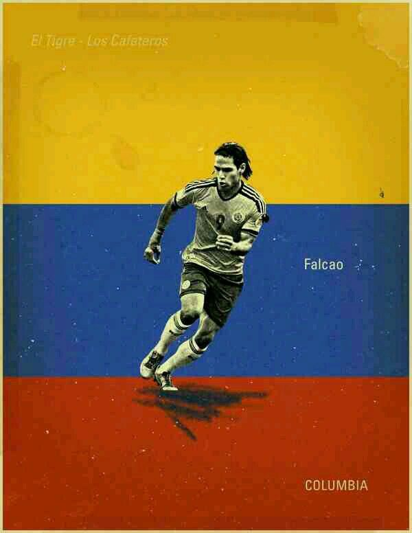 Radamel Falcao of Colombia wallpaper.