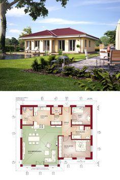 bungalow haus evolution 100 v2 mit grundriss bien zenker modernes fertighaus walmdach - Fertighausplne