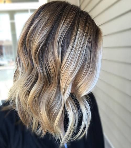 Blonde Balayage For Dark Brown Hair