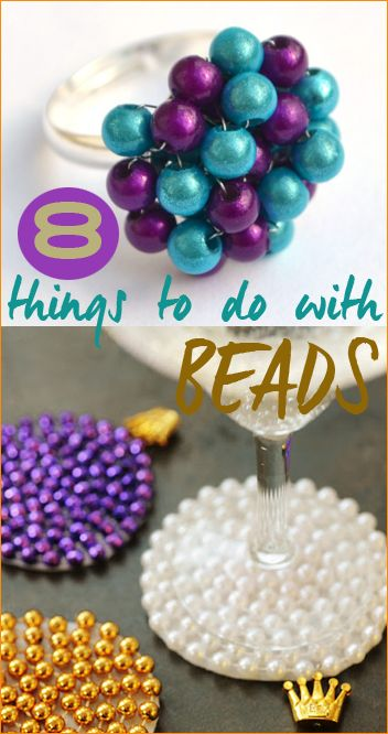 Things to do with Beads.  Creative ways to use beads in jewelry and DIY projects.