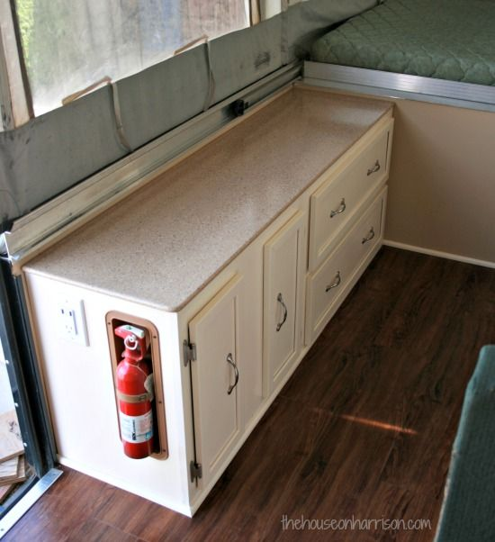 Pop Up Camper Remodel-this is an amazing way to redo countertops. Description from pinterest.com. I searched for this on bing.com/images