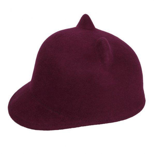 1 x новый женская дьявол шляпа мода уникальный прекрасный милая кошечка кошачьи уши шерсть дерби котелок 7 цвета шапка, принадлежащий категории Шляпы городские и относящийся к Одежда и аксессуары для женщин на сайте AliExpress.com | Alibaba Group