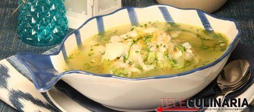 Receita de Sopa de pescada. Descubra como cozinhar Sopa de pescada de maneira prática e deliciosa com a Teleculinária!