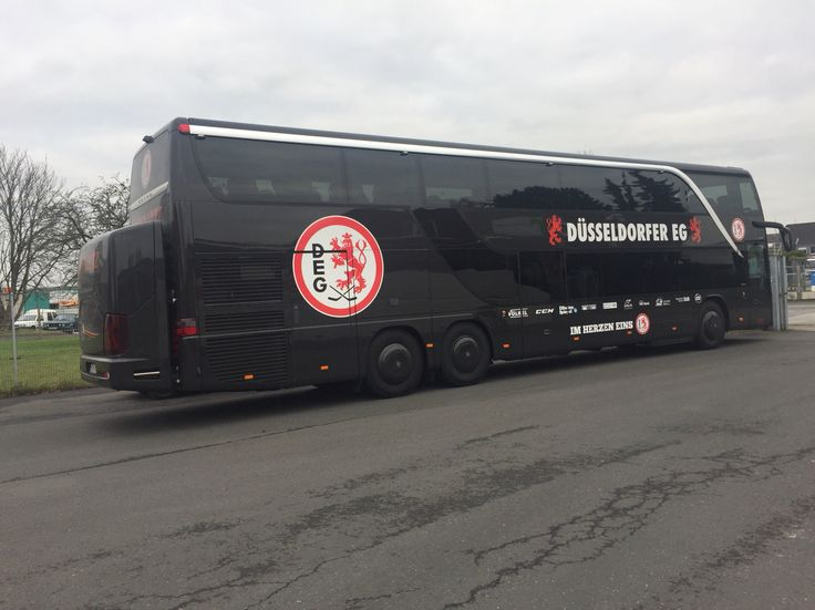 #YOKOHAMAreifen ist #Teampartner der #deg #düsseldorfer #Eishockey #Gemeinschaft und der #Mannschaftsbus fährt auf #yokohama #Busreifen #901ZS und #902W