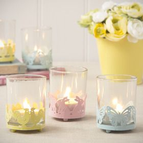 Gisela Graham Pastel Tea Light Holders - £4.00 each from The Contemporary Home