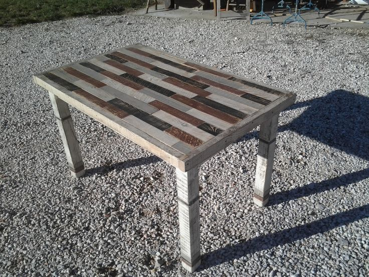 Table recycled wood