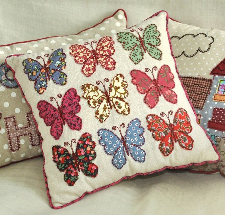 Patchwork Butterflies Cushion | DotComGiftShop
