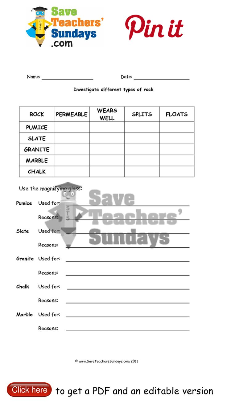 worksheet Types Of Rocks Worksheet 1000 images about year 3 rocks lesson plans worksheets and 2 characteristics of different types other primary teaching resources