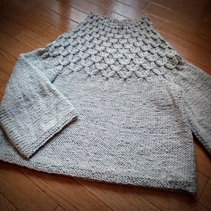 Kinecoの手仕事。 - 【編むのがたのしい、ニット】編みながらスモッキングするセーター