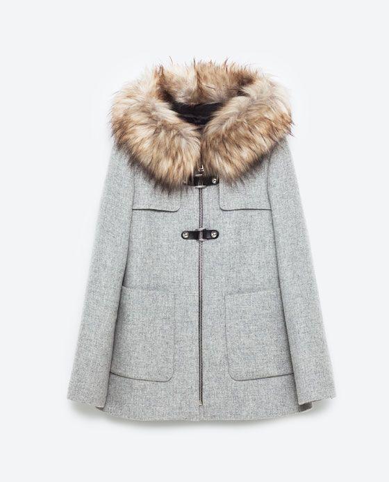 Image 8 de DUFFLE-COAT FORME TRAPÈZE de Zara