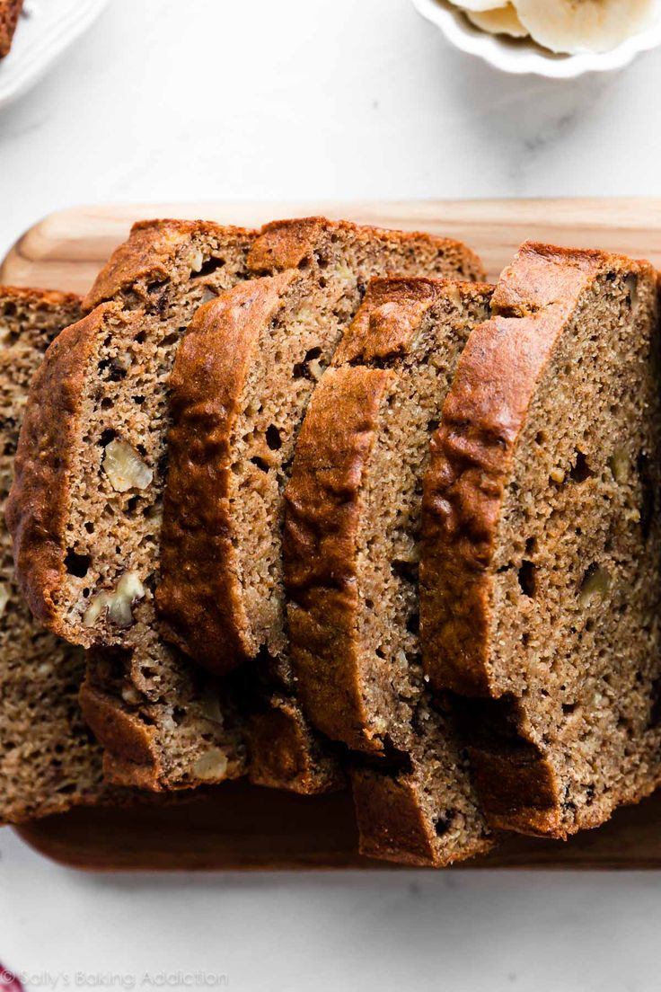 This whole wheat banana bread is made without oil and ...