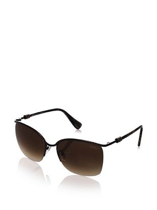 70% OFF Lanvin Women's Half Rim - Crystal Accent Frame Sunglasses, Antique Shiny Brown, One Size