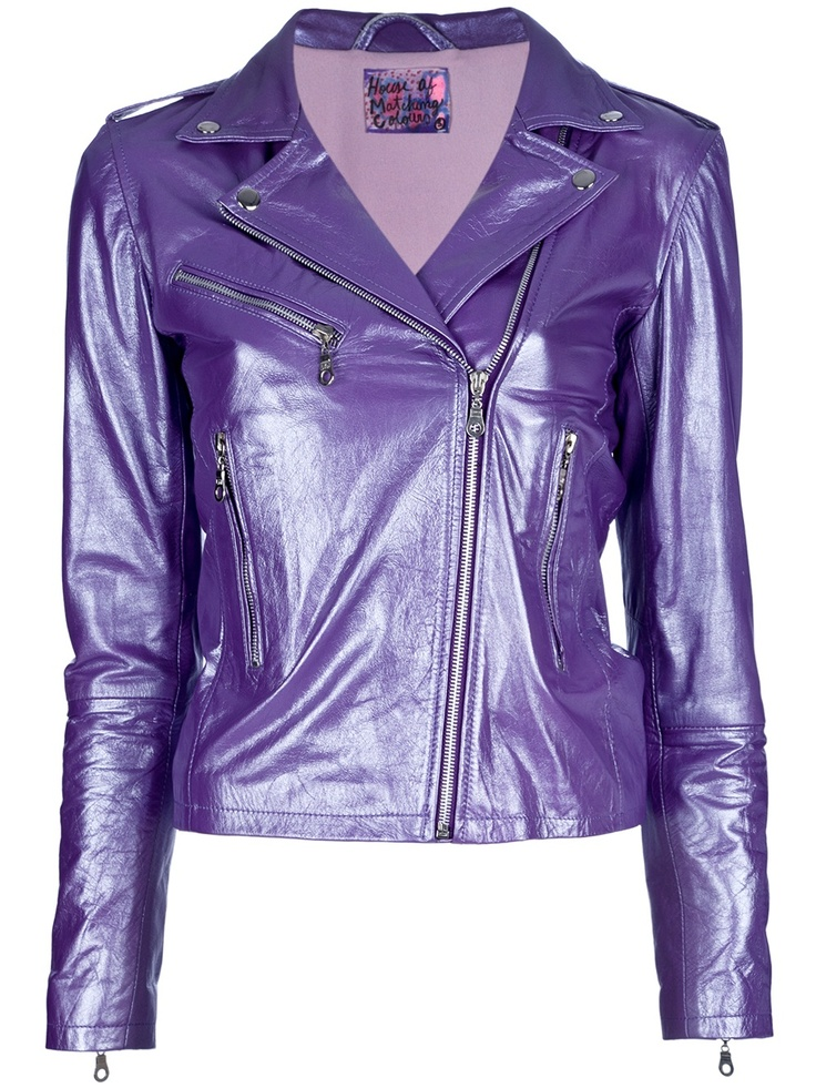 I love purple and leather and would wear this.