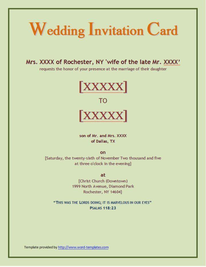 Wedding Invitation Templates Word Document Elegant Wps Templ Wedding Invitation Wording Templates Wedding Invitation Card Template Wedding Invitation Templates