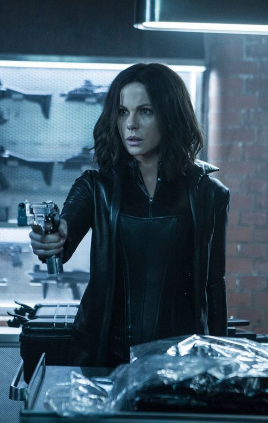 Guns armory.  Selene (Kate Beckinsale). Picture from Underworld: Blood Wars