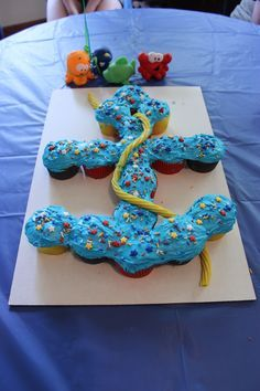 Anchor Cupcake Cake, Birthday Parties, Anchors Cupcakes, Baby Shower ...