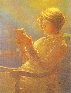 """Woman Reading"" by Leon Kamir (Polish, b. 1872), twentieth century, Musée d'Orsay, Paris"