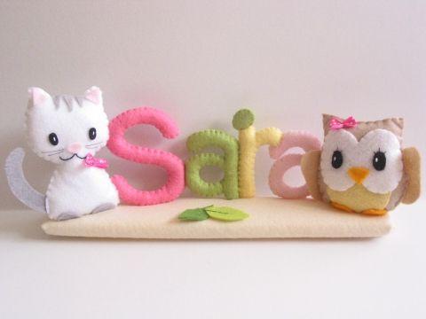 Sara sintió placas baglyos-gato, hogar, diseño de interiores, decoración, bebé-madre-hijos, Mesko