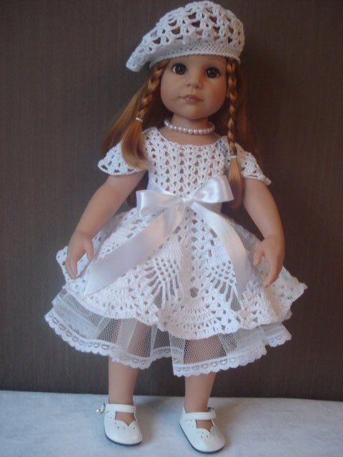 Белое кружево. Вязание для кукол Готц / Одежда и обувь для кукол - своими руками и не только / Бэйбики. Куклы фото. Одежда для кукол