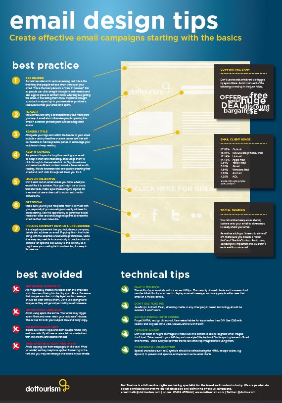Email Design Tips #email #marketing #infographic #HTML #CSS #HTML5 #Websites #CSS3 #EMAILS #Business