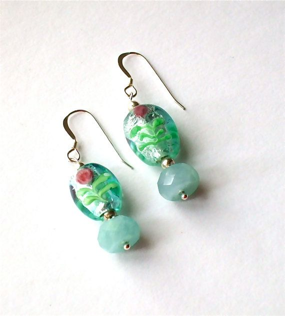 Aquamarine+Sea+Foam+Green+Glass+Beach+Boho+by+westlakebeads,+$14.00
