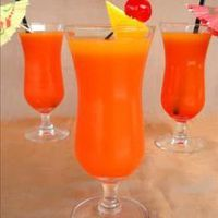 Non-Alcoholic Hurricanes 10 ozs v8 (tropical blend) 1 12 ozs orange juice 12 pieces ice 1 oz grenadine 1 drop lemon lime beverage (carbonated, citrus drop from krogers)