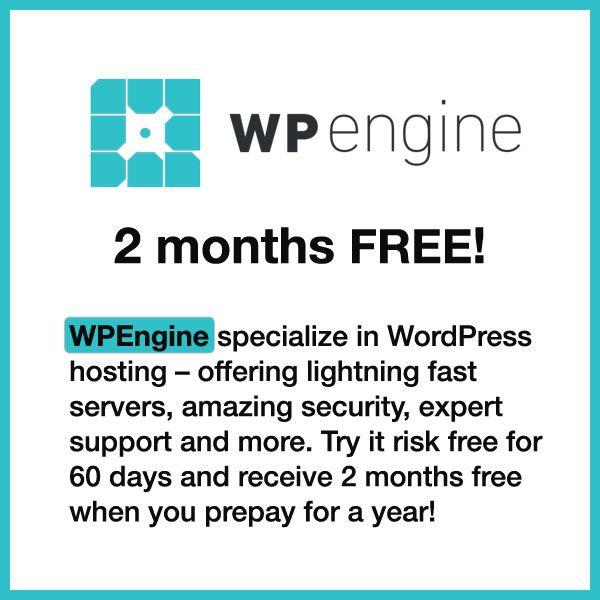 managed wordpress hosting wpengine 2 months off