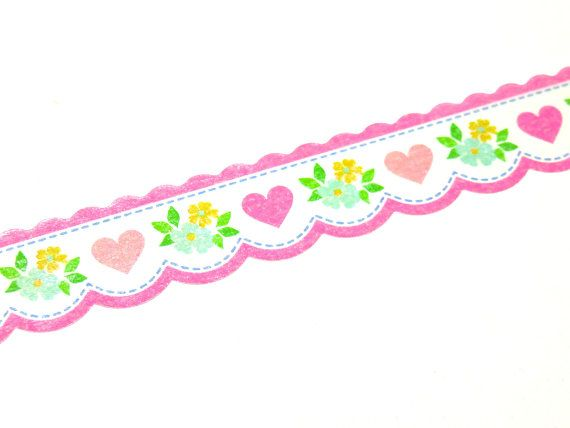 Cute Pink Hearts Japanese Washi Masking Tape available at Cute Things from Japan
