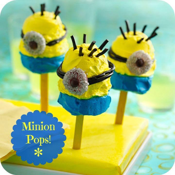 Minion Pops!!! Frozen yogurt pops, Best candy