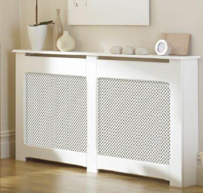 le cacher-radiateur fonte en bois blanc