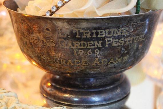 Antique Trophy/Bowl Silverplate Fabulous Patina