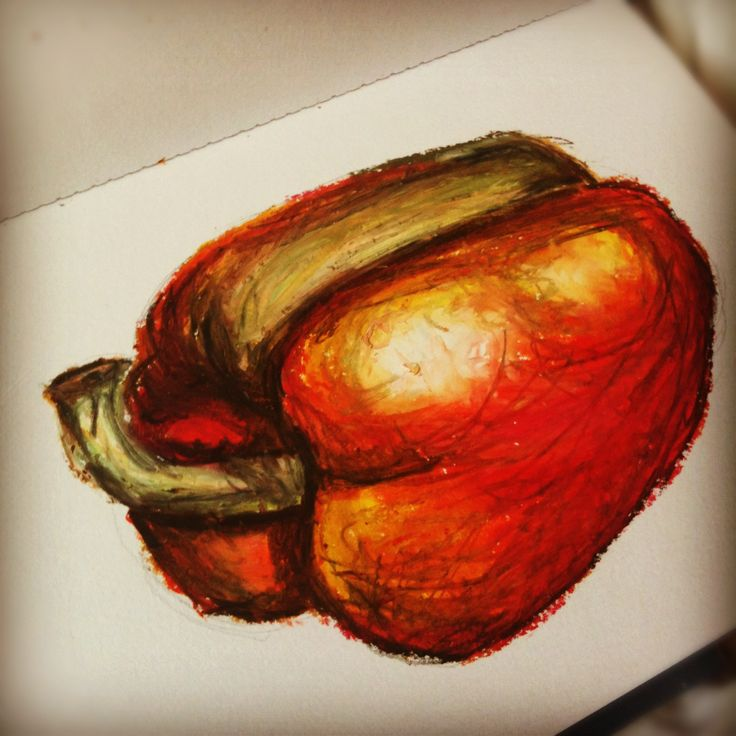 Image result for graphite stick drawings of peppers