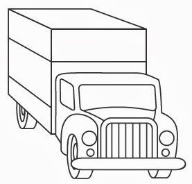 Semi truck or Box truck coloring page