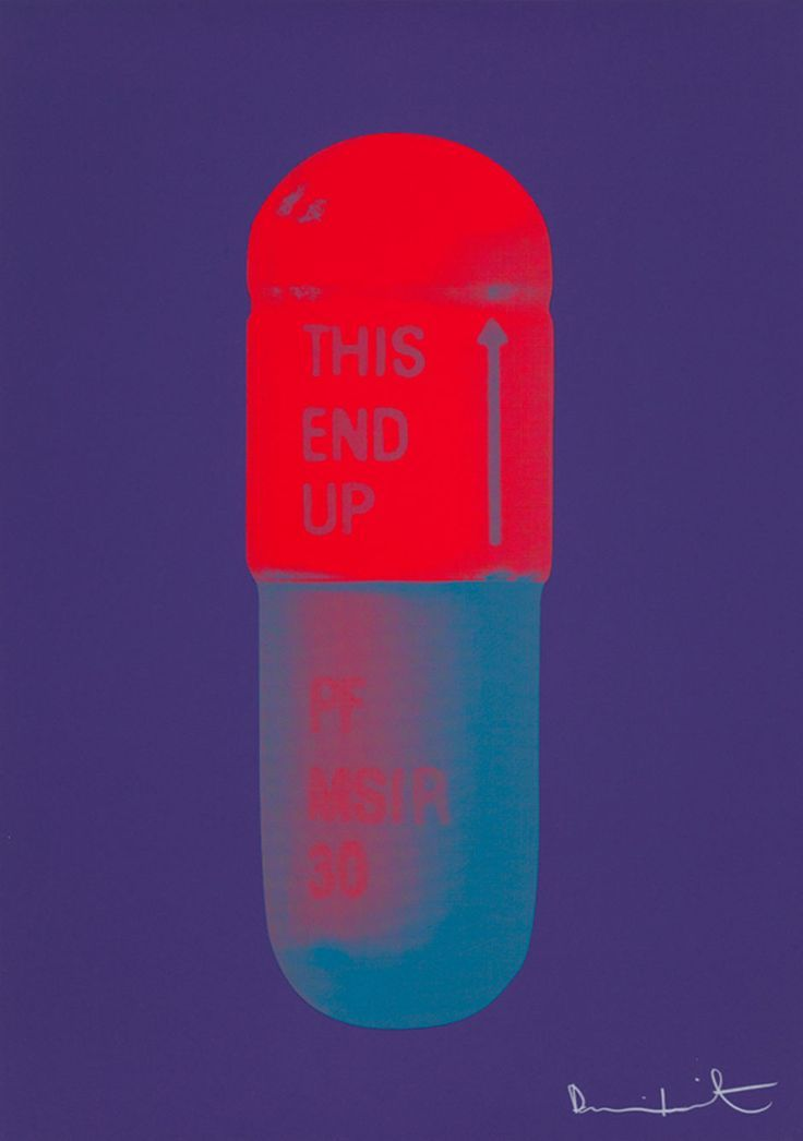 The Cure - Violet/Electric Red/Powder Blue by Damien Hirst £4,200.00 Silkscreen…