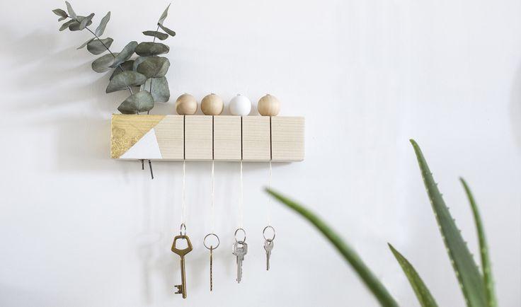 DIY - Un accroche-clé tendance et facile à fabriquer - Décoration d'intérieur - 18h39.fr